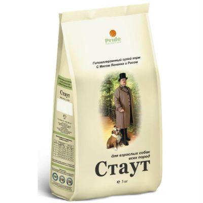 Сухой корм Стаут гипоаллергенный для взрослых собак всех пород с мясом ягненка и рисом упак. 3кг