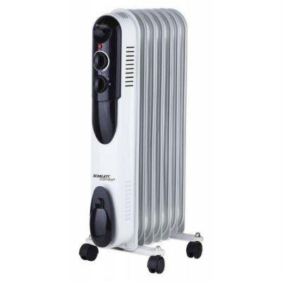 Радиатор Scarlett SC-OH67B01-7 белый/черный
