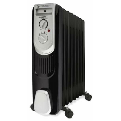 Радиатор Scarlett SC-OH67B03-7 черный/серебристый