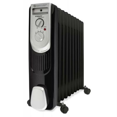 Радиатор Scarlett SC-OH67B03-9 черный/серебристый