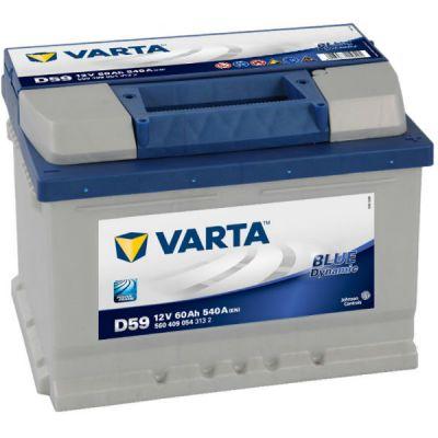 Автомобильный аккумулятор Varta Blue Dynamic 60 о.п. D59 (560 409 054) низк. 9107090