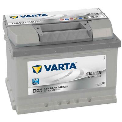 Автомобильный аккумулятор Varta Silver Dynamic 61 о.п. D21 (561 400 060) низк. 9107093