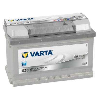 Автомобильный аккумулятор Varta Silver Dynamic 74 о.п. E38 (574 402 075) низк. 9107103