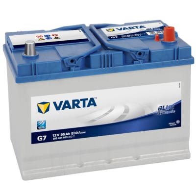 Автомобильный аккумулятор Varta Blue Dynamic Asia 95 о.п. G7 (595 404 083) 9107110