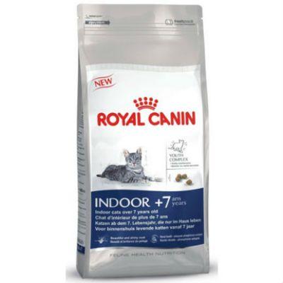 Сухой корм Royal Canin Indoor +7 для домашних кошек старше 7лет 1,5кг 548015