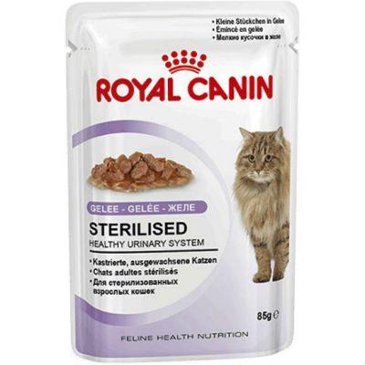Паучи Royal Canin Sterilised для кошек в желе 85гр 787001