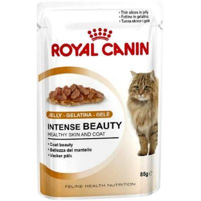 Паучи Royal Canin Intense Beauty для кошек в желе 85гр 785001