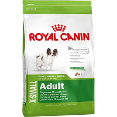 Сухой корм Royal Canin X-SMALL ADULT для собак весом до 4кг мелких пород 500г 315005