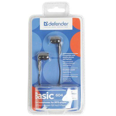 Наушники Defender Basic-604 Black 63604
