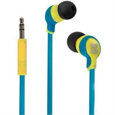 Наушники Defender Juicy MPH-811 желтый/голубой 63811