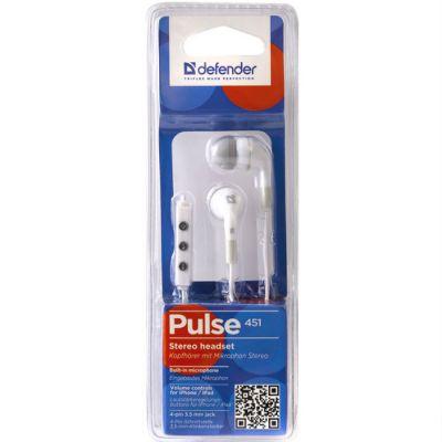 Гарнитура Defender Pulse-451 White 63451