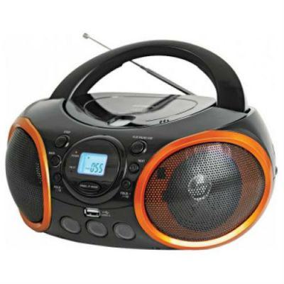 Магнитола BBK BX100U черный/оранжевый