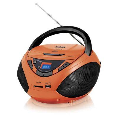 Магнитола BBK BX108U черный/оранжевый