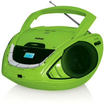 Магнитола BBK BX190U черный/зеленый