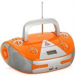 Магнитола BBK BX325U оранжевый/серебро