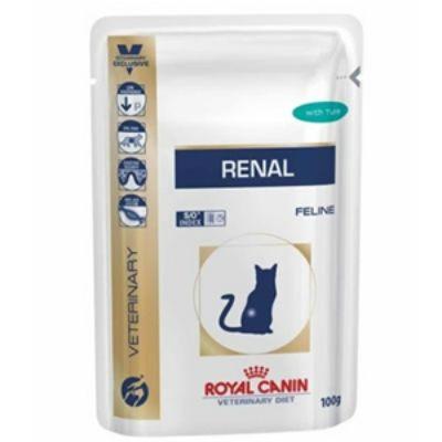 Паучи Royal Canin Renal для кошек при почечной недостаточности c цыпленком 85г 794001