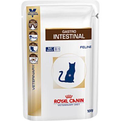 Паучи Royal Canin Gastro-Intestinal для кошек при нарушениях пищеварения 100г 766001