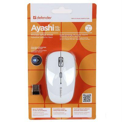 Мышь беспроводная Defender Ayashi MS-325 Yuki (White) 52326