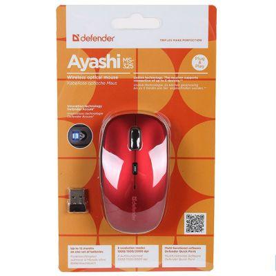 Мышь беспроводная Defender Ayashi MS-325 Akai (Red) 52329