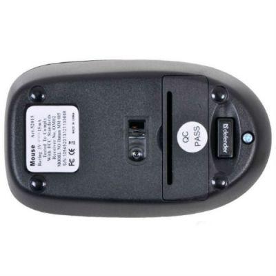 Мышь беспроводная Defender Datum MM-015 Nano Black 52015