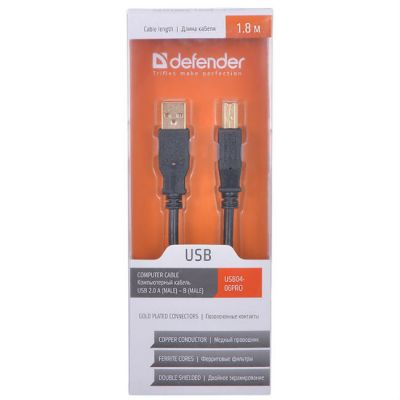 ������ Defender USB 2.0 AM/BM 1.8m 87430