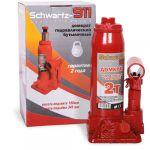 Домкрат Schwartz гидравлический бутылочный 911 2 т (180-345 мм), ДОМК0004 картонная коробка