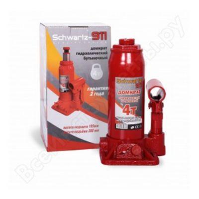 Домкрат Schwartz гидравлический бутылочный 911 4 т (195-380 мм), ДОМК0005 картонная коробка