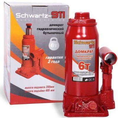 Домкрат Schwartz гидравлический бутылочный 911 6 т (200-405 мм), ДОМК0006 картонная коробка