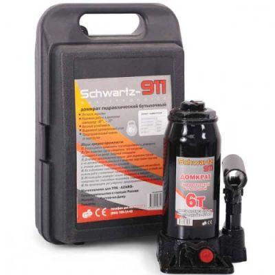 Домкрат Schwartz гидравлический бутылочный 911 6 т (200-405 мм), DОМК0009 пластиковый кейс