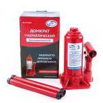 Домкрат AutoVirazh гидравлический 3 т бутылочный в кейсе AV-072403 (красный)