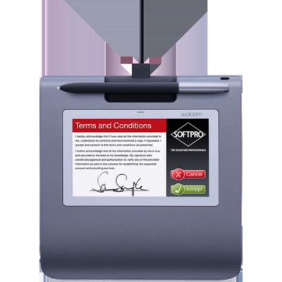 ����������� ������� Wacom STU-530 Signature Set ������� ��� ����������� ������� + �� (Gray) (STU-530-SP-SET)