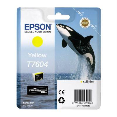 Картридж Epson T7604 Yellow/Желтый (C13T76044010)