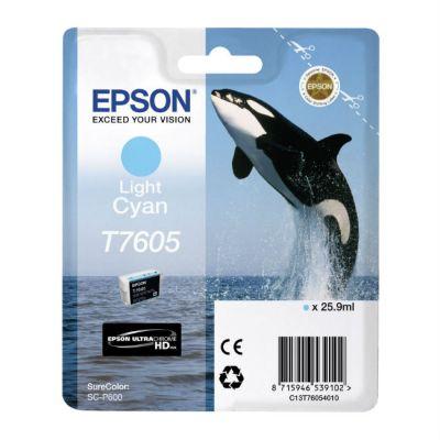 Картридж Epson T7605 Light Cyan /Зеленовато - голубой (C13T76054010)
