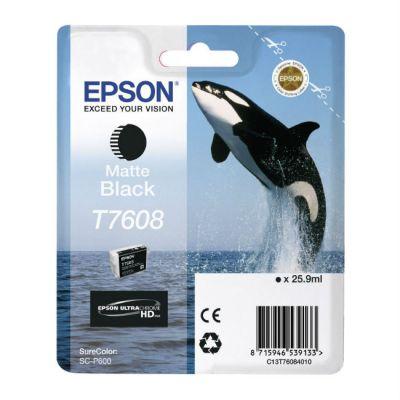 Картридж Epson T7608 Matte Black/Матовый Черный (C13T76084010)