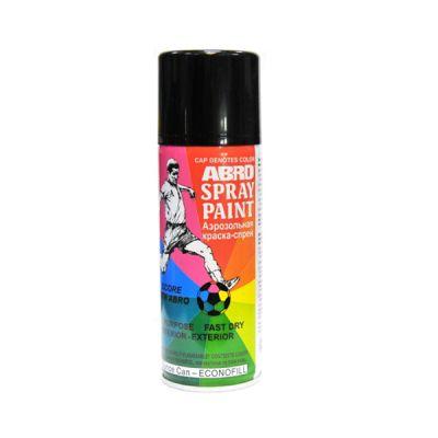Abro Краска-спрей 011-R черная блестящая ABRO США