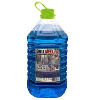 """WillMelt Жидкость низкозамерзающая для стеклоомывателя """"Non-Freezing"""" марки -25 гр. желтая крышка"""