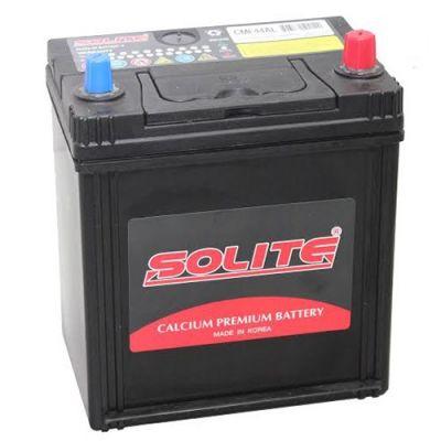 Автомобильный аккумулятор Solite Asia 44 А/ч, о.п., тонк.кл. (CMF44AL) B/H с бортиком 9143525