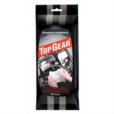 Top Gear Салфетки влажные №30 для очистки рук(антибактер.) 734