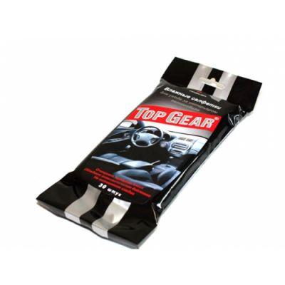 Top Gear Салфетки влажные №30 для пластика (16шт.) 27015