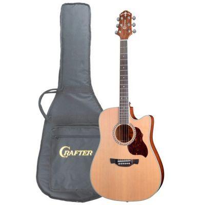 Электроакустическая гитара Crafter DE 7/N + чехол