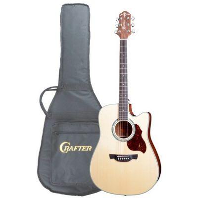 Электроакустическая гитара Crafter DE 8/N + чехол