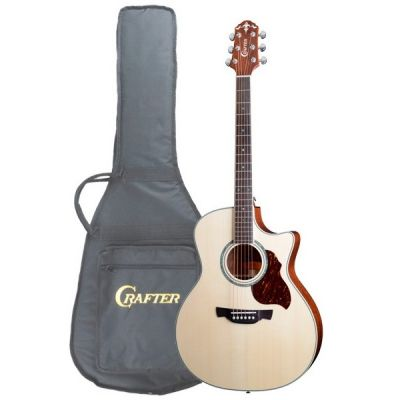 Электроакустическая гитара Crafter GAE 8/N + чехол