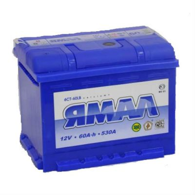 Автомобильный аккумулятор Ямал 60 о.п. 9168699