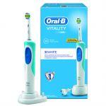 Электрическая зубная щетка Oral-B Vitality 3D White/CrossAction белый 84855521/80252509