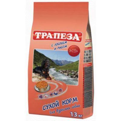 Сухой корм Трапеза 13 кг для для взрослых собак с чувствительным пищеварением Лосось с рисом