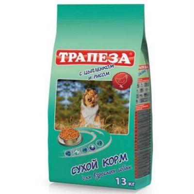 Сухой корм Трапеза 13 кг для для взрослых собак Цыпленок с рисом