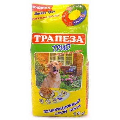 Сухой корм Трапеза ТРИО 13 кг для собак (индейка, кролик, телятина)