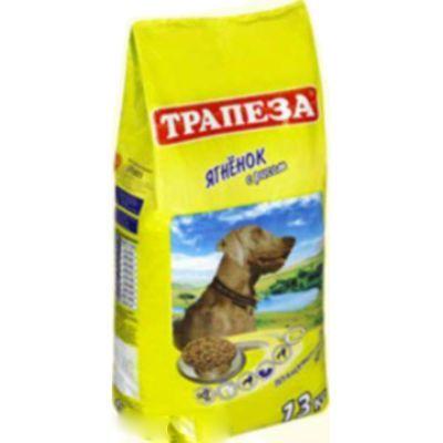 Сухой корм Трапеза для собак средних парод (ягненок, рис) 400г