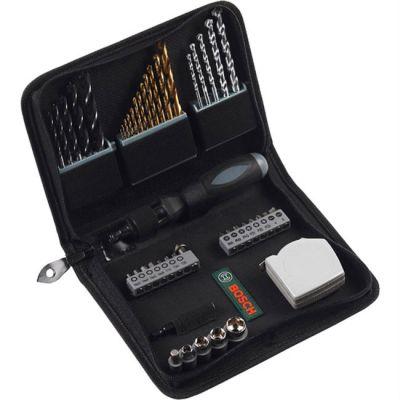 Набор Bosch (мет/кам/дер, биты, рулетка, отвертка, TiN) 46 шт. 2607019507