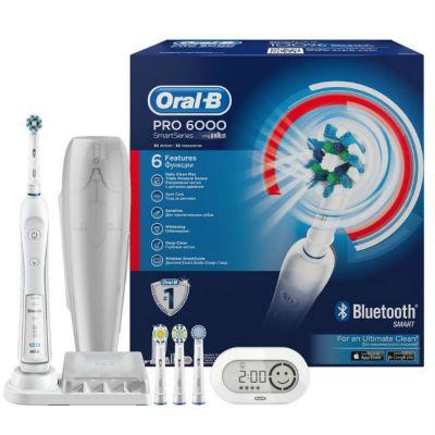 Электрическая зубная щетка Oral-B PRO-6000 Smart Series c подключением по Bluetooth 4.0 80272125